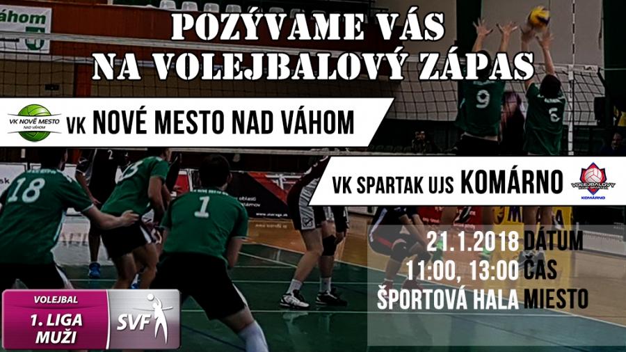 1.liga muži: VK Nové Mesto n/V - VK Spartak UJS Komárno