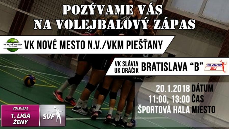 1.liga ženy: VK Nové Mesto n/V+VKM Piešťany - VK Slávia UK Bratislava B